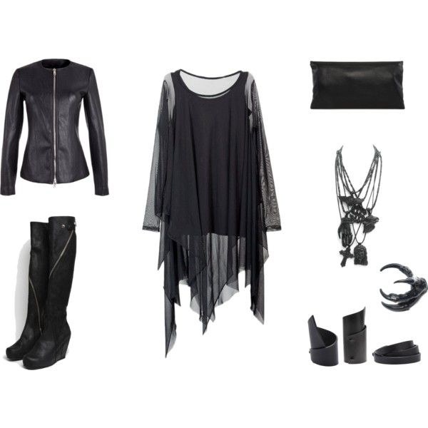 """""""NU-Goth"""" by black-blessed on Polyvore"""