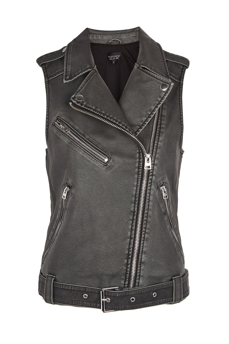 Sleeveless Faux Leather Biker Jacket - New In Fashion - New In - Topshop Europe