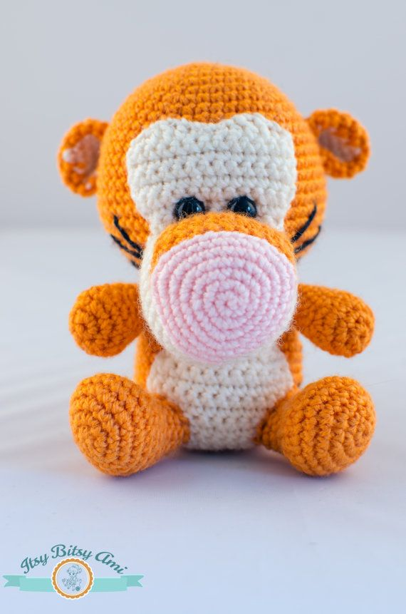 This little tiger is perfect as a gift for a little boy or girl, but also it will look nice as a display item. Size: 12 cm / 4.7 inches