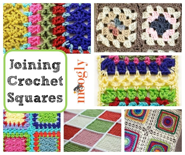 Get It Together: How to Join Crochet Squares 12 Ways - Moogly. http://www.mooglyblog.com/join-crochet-squares/