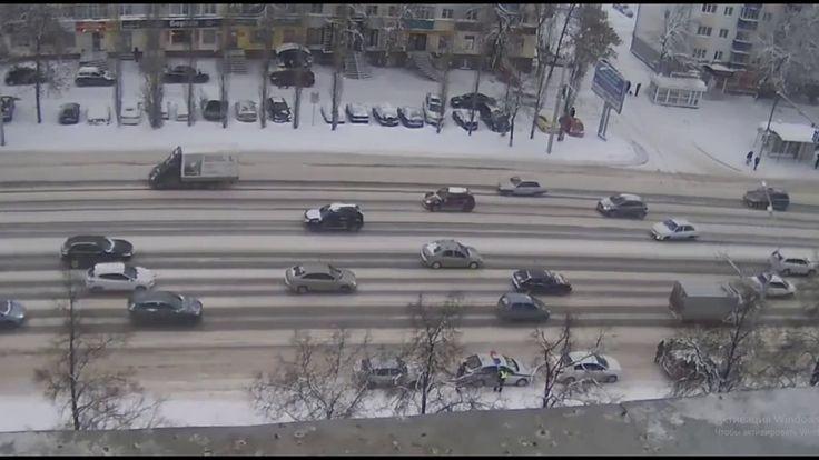 Уфа, проспект Октября, ЖД больница, каждый день бьются авто, колея, ДТП
