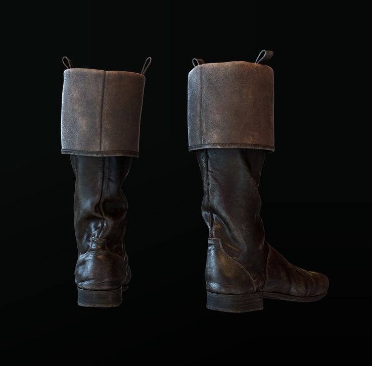 ArtStation - Officer's boots of the 19th century , Anastasia Fileva