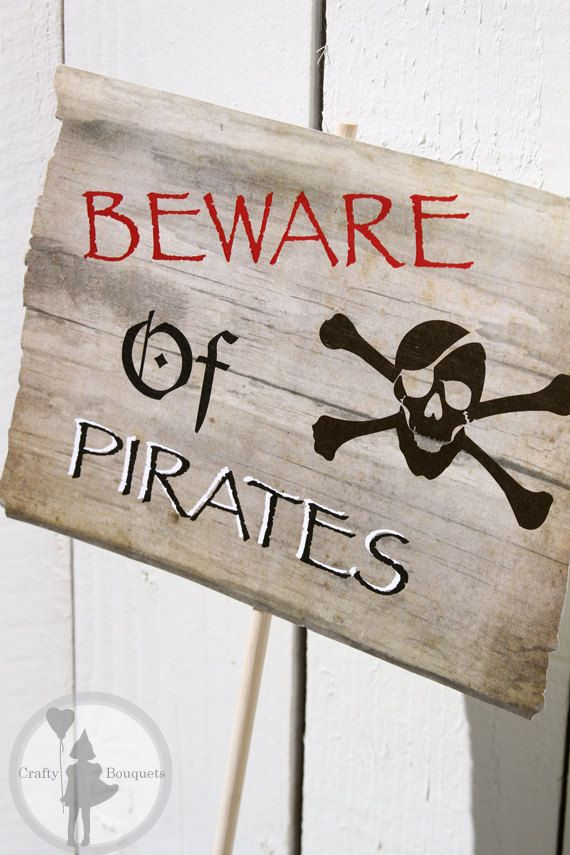 Our Pirate Party Welcome sign, featured in our Pirate Party Customized invitation Package.