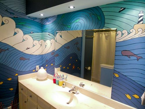 bathroom inspired by Ponyo