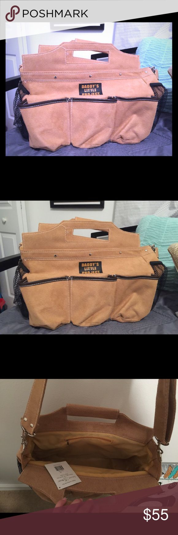 """Daddy Diaper Bag /tool bag 👶🏼 soft suede """"daddy's little project"""" suede diaper bag, a manly bag great for daddy's time with baby❤️never used, NWT Accessories Bags"""