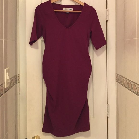 Old Navy Maternity Dress Cranberry Colored Maternity Dress from Old Navy. Only Worn Once Old Navy Dresses