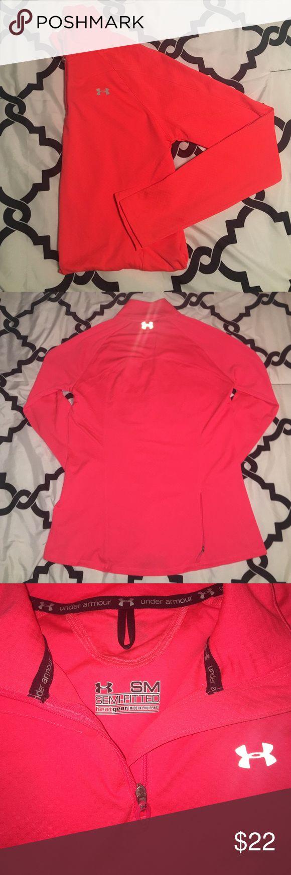 Pink/orange under armour quarterzip running jacket Pink/orange dri-fit her gear under armour quarter-zip running jacket. Under Armour Jackets & Coats
