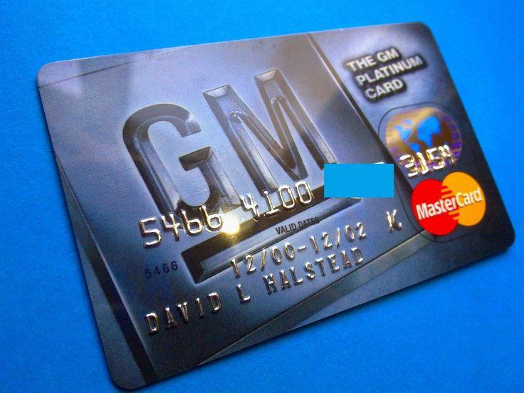 USA GENERAL MOTORS PLATINUM CARD | Предметы для коллекций, Кредитные и платежные карты | eBay!
