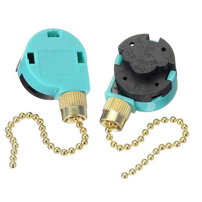 2 Pack Ceiling Fans Replacement Parts Zing Ear Ze 268s6 Ceiling Fan Switch 3 Speed 4 Wire Pull Chain Cord Ceiling Fan Switch Ceiling Fan Pull Chain Pull Chain