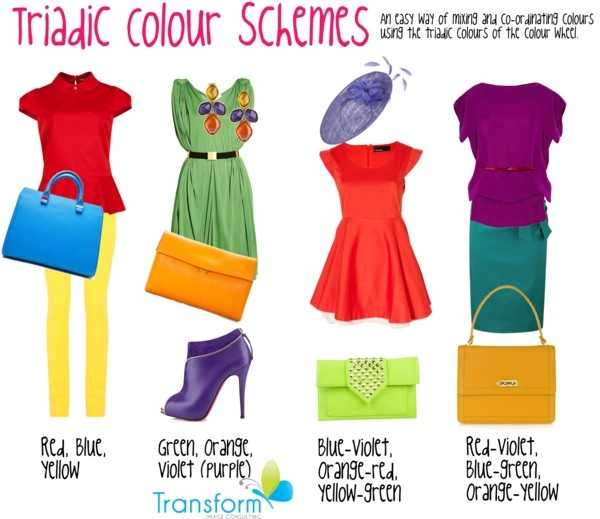 Triadic Colour Scheme Color Schemes Colourful Outfits Combos