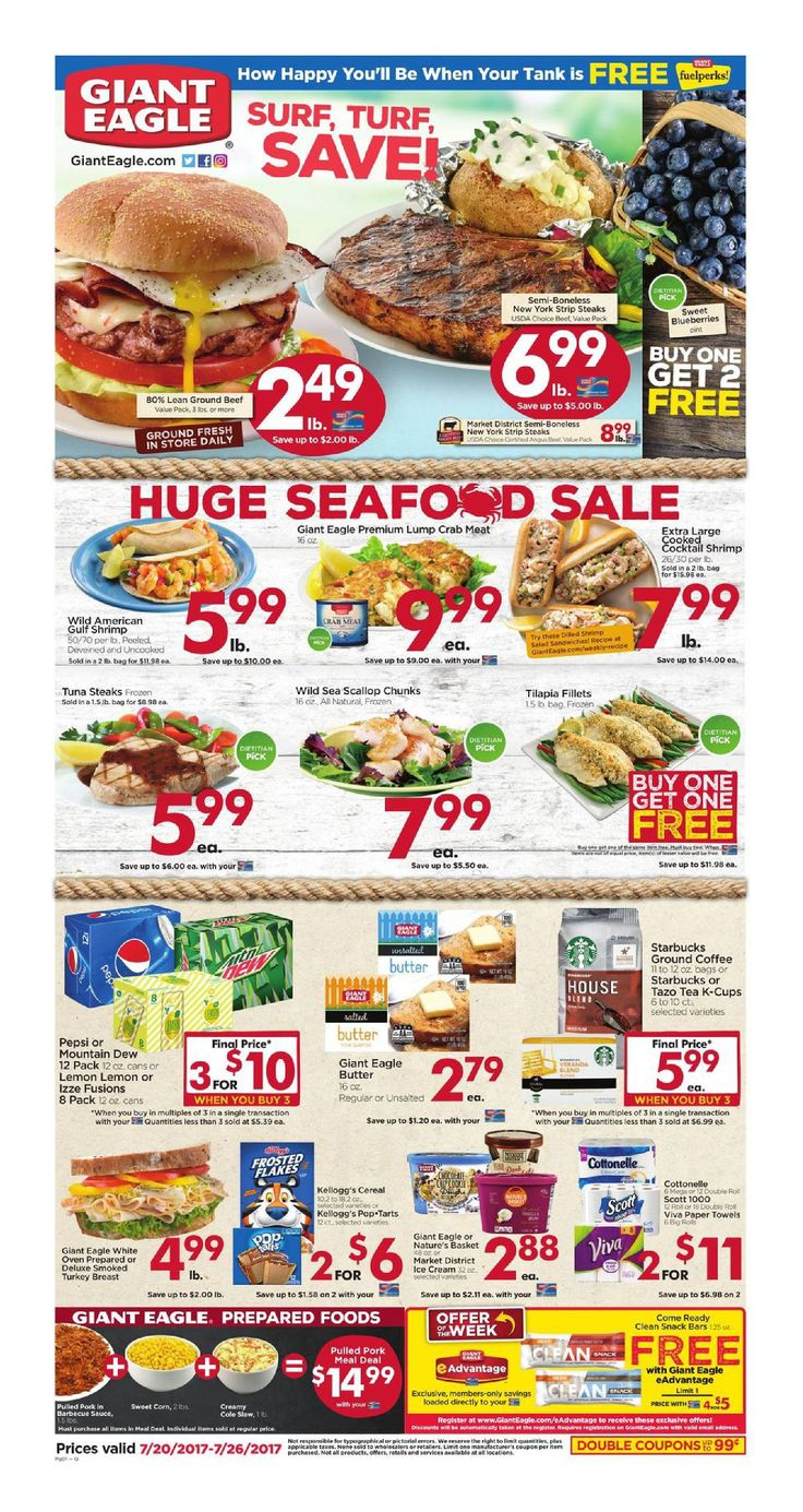 Giant Eagle Weekly Ad July 20 - 26, 2017 - http://www.olcatalog.com/grocery/giant-eagle-weekly-ad.html