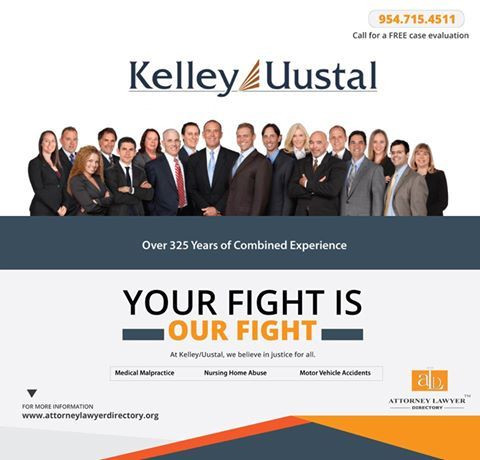 Kelley/Uustal is a Fort Lauderdale based personal injury trial law firm. The firm has recovered hundreds of millions of dollars for its clients, and handles all types of injury cases, such as medical malpractice, nursing home abuse, and motor vehicle accidents. Call today to get a free case evaluation..... http://attorneylawyerdirectory.org/…/a…/kelley%10uustal.html #triallawyer #triallaw #accidentlawyer #accident #medicalmalpractice