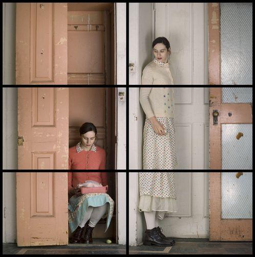 Doppelganger Self Portraits by Cornelia Hediger