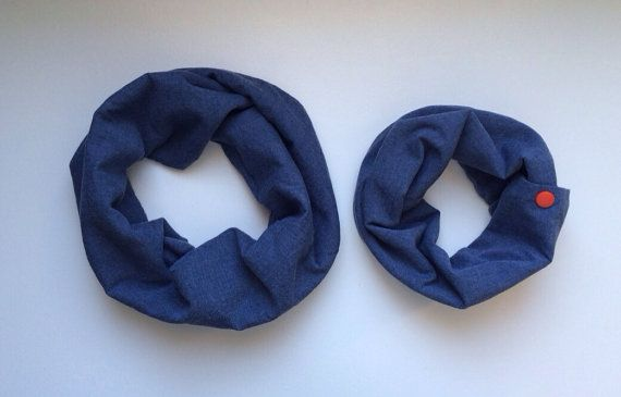 Daddy/Mommy and Me Cowl Set (Toddler) - chambray & grey jersey OOAK on Etsy, $25.00 CAD