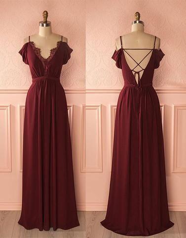 1726e771fc off shoulder cheap chiffon long prom dress