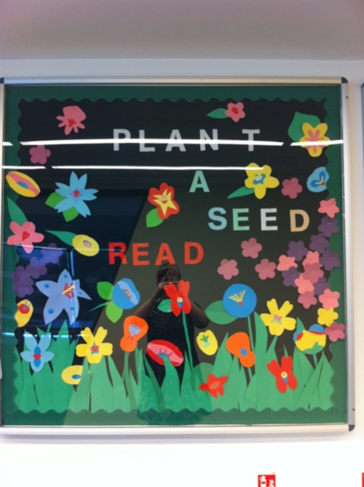 """Plant a Seed -- Read"" library bulletin board display"