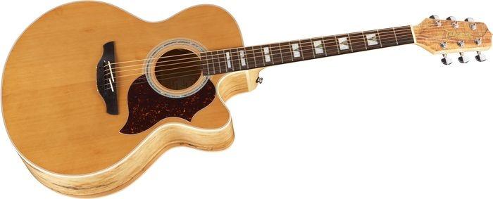 Takamine G Jumbo Eg523sc Acoustic-electric Guitar Spalted Maple