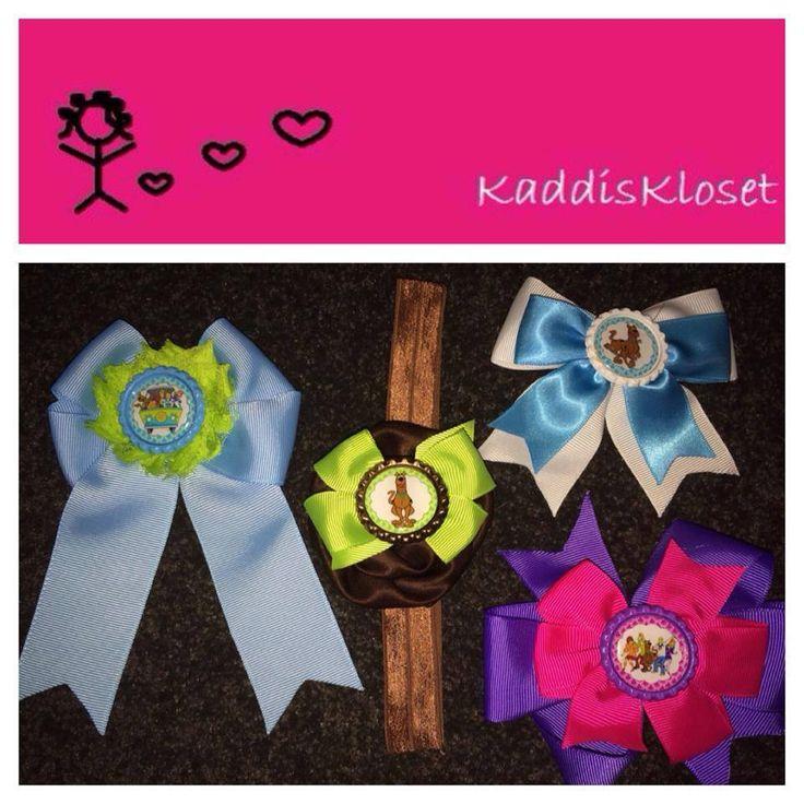 Hand made by Kaddis Kloset Scooby Doo inspired groovy bows and headbands