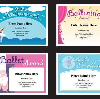 78 best award certificates templates images on pinterest award ballet certificate pack dancing awards dance team printables child certificates ballet templates ballet certificates ballet mom yadclub Image collections