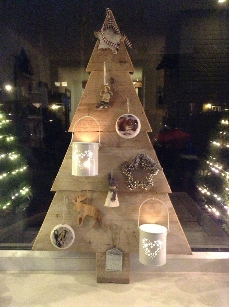Alternatieve kerstboom Steigerhout