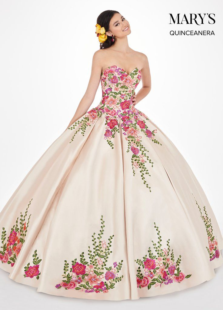 ce28901a8fe Floral Applique Strapless Quinceanera Dress by Mary s Bridal MQ2066-Mary s  Bridal-ABC Fashion