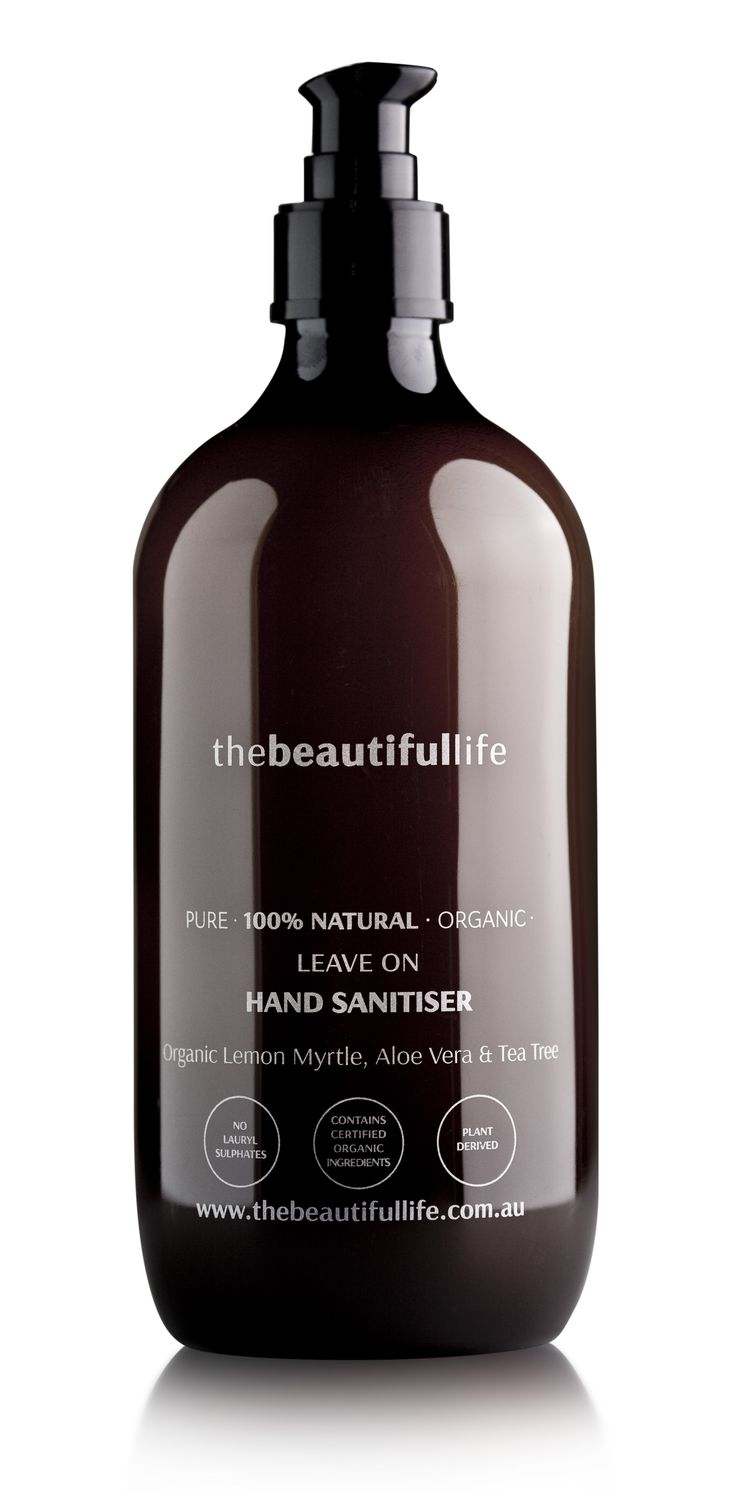 thebeautifullife - Leave On Hand Sanitiser with Organic Lemon Myrtle, Tea Tree & Aloe Vera - Kills 99.99% germs without water