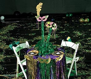 mardi gras table setting & 17 best Mardi Gras Table Settings images on Pinterest | Place ...
