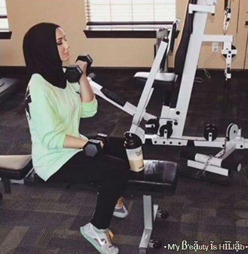 Hijab fashion sport | We Heart It | fashion, fitness, and girl