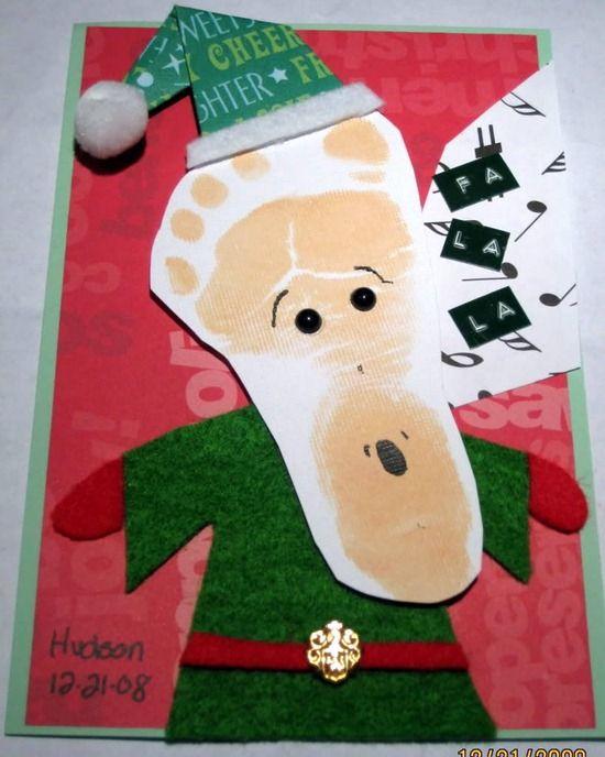 tarjeta de navidad con las huellas de tu bebe: http://www.manualidadesinfantiles.org/tarjetas-de-navidad-hechas-a-mano/