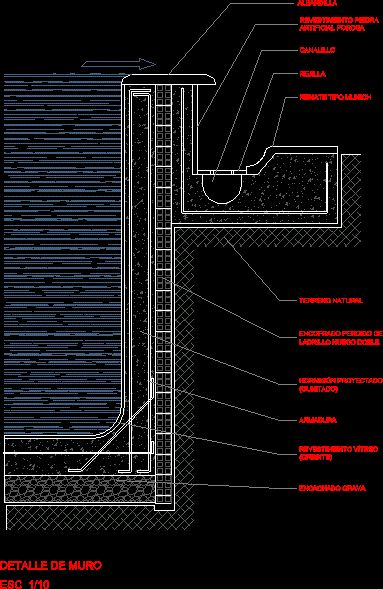 Detalle Constructivo de Muro para Piscina