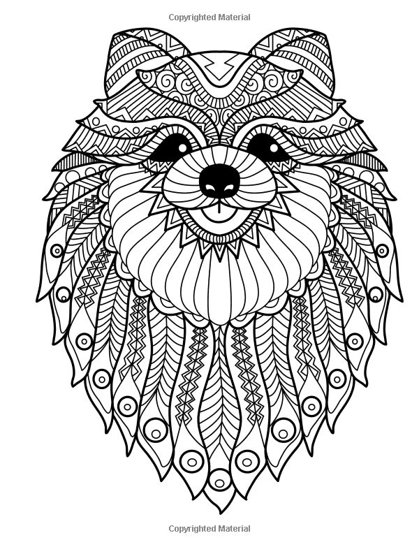 Doodle Dogs Coloring Books For Grownups Featuring Over 30 Stress Relieving