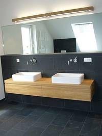 Bad unterschrank holz hängend  Die besten 20+ Waschtisch Ideen auf Pinterest | Badezimmermöbel ...