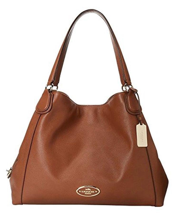 Coach Refined Pebble Leather Edie Shoulder Bag