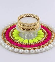 Diya Decorated with pearl