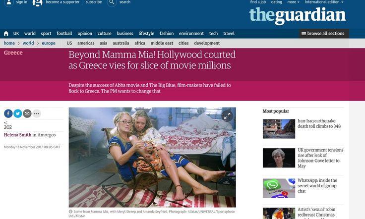 Καθώς η Ελλάδα επανακάμπτει από την οικονομική κρίση, η βρετανική εφημερίδα Guardian αναφέρει σε δημοσίευσή της πώς ο λαμπερός κόσμος του Hollywood μπορεί να επιστρέψει στη χώρα μας για την παραγωγ…