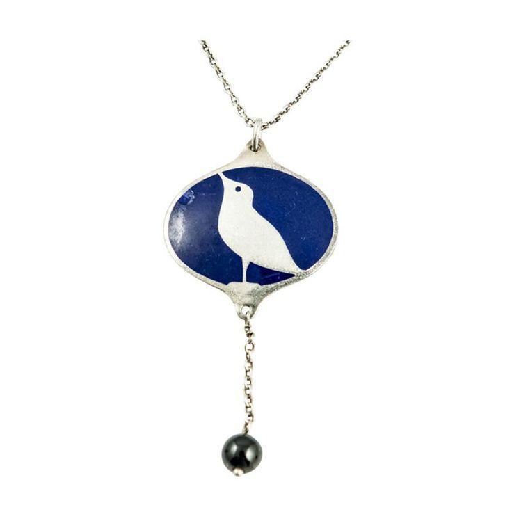 Koloman Moser Wiener Werkst tte Koloman Moser ca 1904 Bird Silver Collier