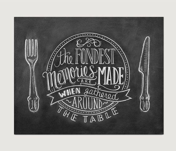 Schoolbord Art keuken schoolbord kunst Dining Room door LilyandVal