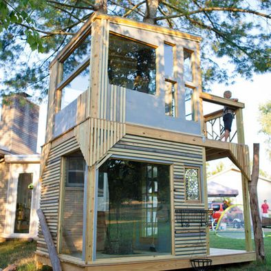 23 best shed playhouse images on pinterest backyard for Two storage house designs