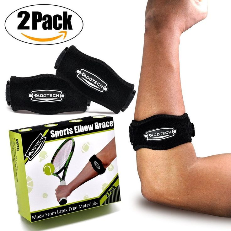 2 Tennis Elbow Brace Support Golfer Golf Strap Band Pain Relief Free shipping #Aootech