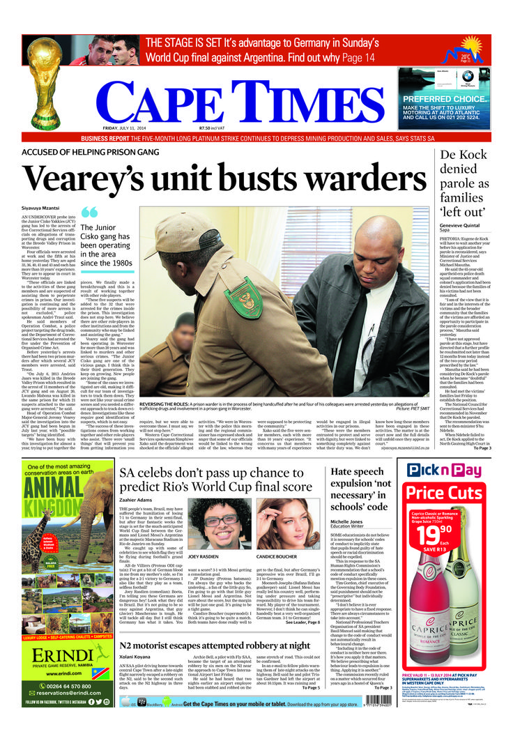News making headlines: Veary's unit bust workers