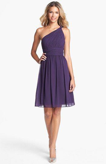Donna Morgan 'Rhea' One Shoulder Chiffon Dress available at #Nordstrom