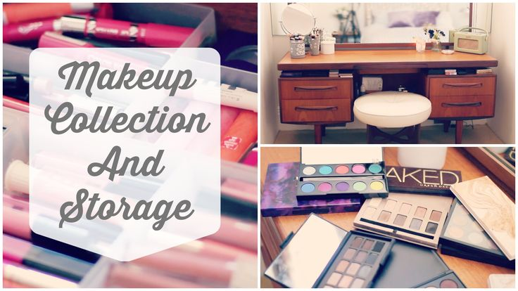 My Makeup Collection & Storage | Zoella - i love the desk!