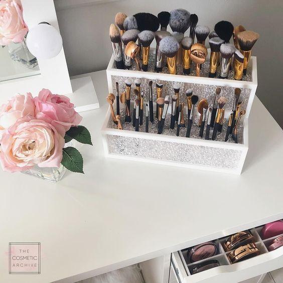 45 Brilliant Makeup Organizer & Storage-Ideen für Mädchen