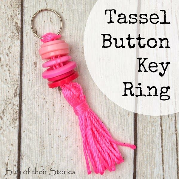 Tassel Button Key Ring Tutorial