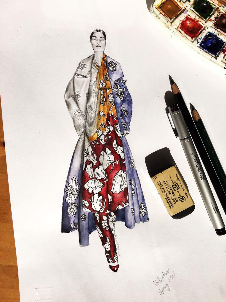 Coming back to my WHY, the reason I got into fashion design #fashionillustrations #illustration #mixedmedia #pencildrawing #drawing #10,000hrs #fashion #valentinospring2018 #moveon #fintourownpath #makecoolthings #AliciaYanezDavila #rome #italy #moda #ilustrazionedimoda
