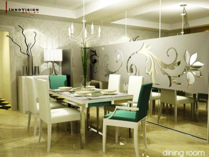 Impressive White Themed Dining Room To Increase Your Appetite Excellent With