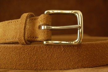 The Cowdray in Tobacco Suede with a Polished Nickel West End