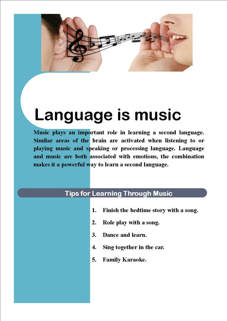 Music plays an important role in learning a second language. Similar areas of the brain are activated when listening to or playing music and speaking or processing language. #Language and #music are both associated with emotions, the combination makes it a powerful way to learn a second language.