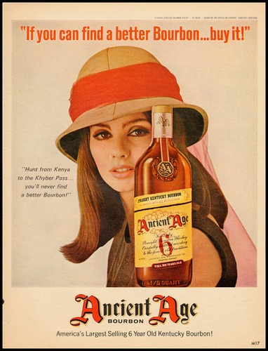 Ancient Age Bourbon Vintage Ad 1960s  The pith helmet has always been associated with bourbon.