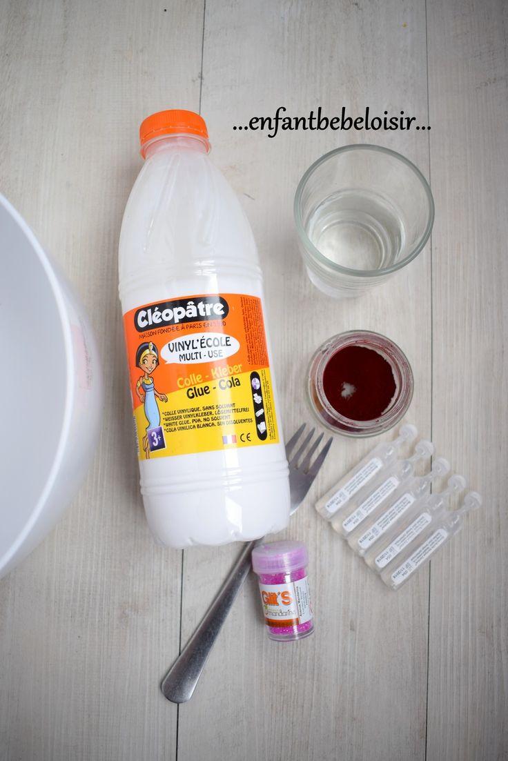 Faire de la pâte Slime recette - pâte à prout - pâte à ballons
